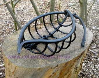 Leaf Vein Fruit Bowl Sculptural Organic Leaf Blacksmith Made