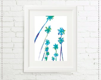 Illustration blue Palms