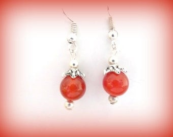 orange earrings - dangle earrings