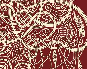 Celtic Art 11x14 Jellyfish Print - Celtic Jellyfish wall art