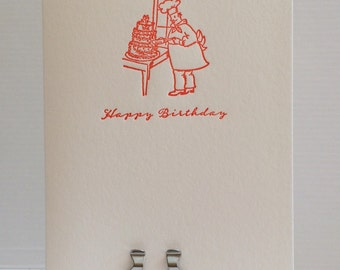 The baker birthday card