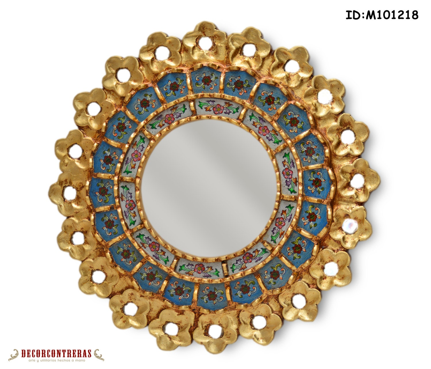 Handmade Small Decorative Round Wall Mirror Style Cuzco