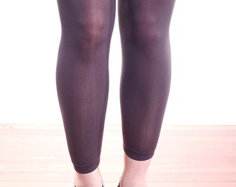 Dark Grey High Quality Opaque Nylon Tights Leggings One Size