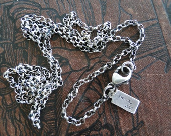Longer, heavier,  Sterling Silver Rolo Chain.