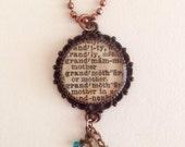 Custom Pendant Grandmother Pendant Resin Jewelry Christmas Gift