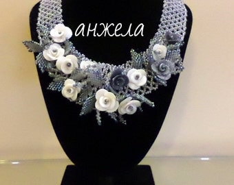 Flower Handmade Beadwork necklace
