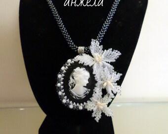 handmade necklace cameo