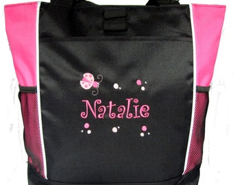 PERSONALIZED Lady bug  Tote Bag diaper baby beach   New FREE SHIPPING