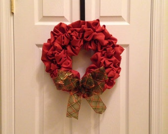 Fall Fabric Deco Mesh Wreath