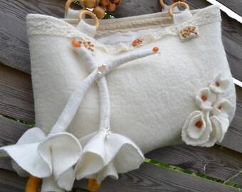 felted handbag in woll