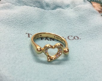 Gold Tiffany Elsa Peretti Open Heart Ring