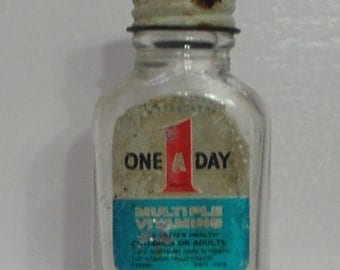 One A Day Multiple Vitamin Bottle Vintage
