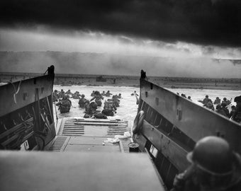 WWII- D-Day Allied Invasion of Normandy, France  Photo Print