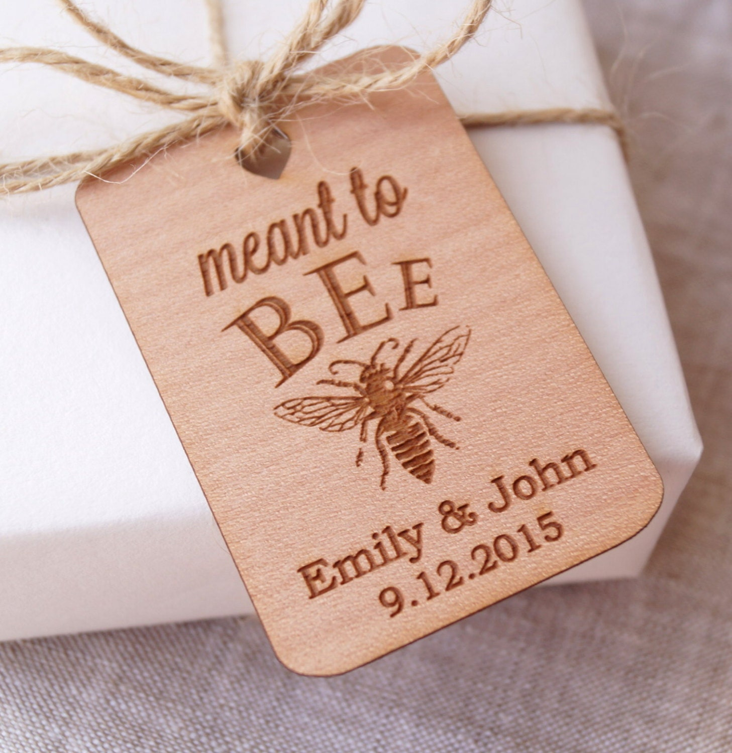 Wedding Favor Honey Tags : Meant to Bee wedding favor tags honey favor tags wedding