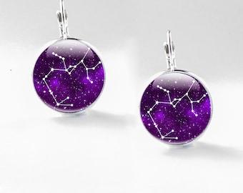 Sagittarius Earrings, zodiac dangles Photo Zodiac jewellery, Constellation illustration jewelry, drop earrings, dangles, Sagittarius zodiac