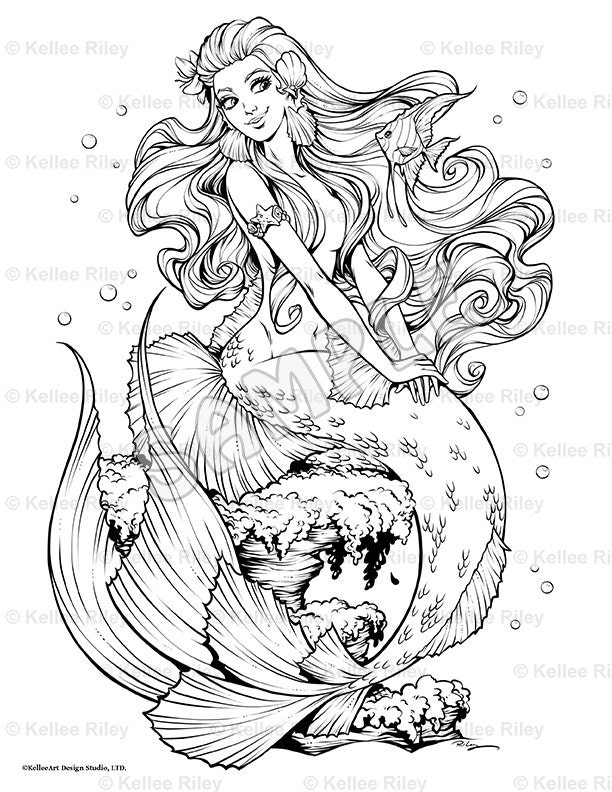 Fishy Friends Adult Coloring Page