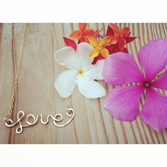 love necklace - adjustable