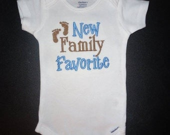 Embroidered Baby Bodysuit - New Family Favorite