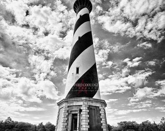 "Cape Hatteras Lighthouse (16"" x 24"" Black & White Matte Print)"