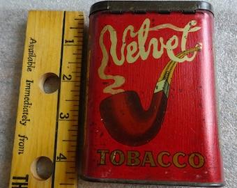 Vintage Velvet Tobacco Tin
