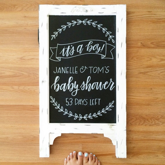 Items Similar To Baby Shower Chalkboard Baby Shower Sign