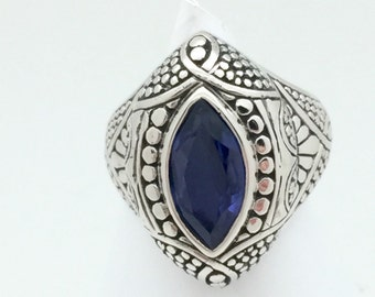 Iolite Bali Statement Ring