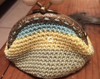 Crochet coin purse, Cute coin purse, Striped coin purse