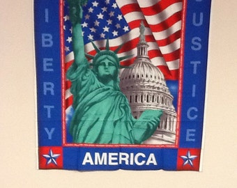 God bless america wallhanging panel