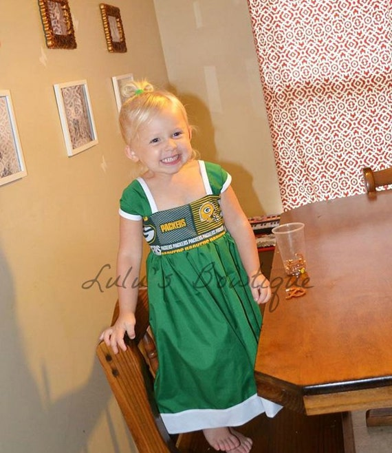 Items similar to inspired by green bay packers dress for Green bay packers wedding dress