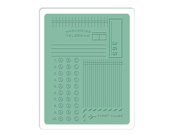 Sizzix Textured Impressions Embossing Folder - Postage/Telegram by Jillibean Soup 660423