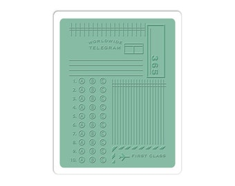 New! Sizzix Textured Impressions Embossing Folder - Postage/Telegram by Jillibean Soup 660423