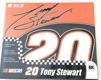 Nascar Tony Stewart Scrapbook Album, 6x6 Scrapbook Album, Racing Scrapbook Album, #20 Scrapbook Album, Car Racing Scrapbook