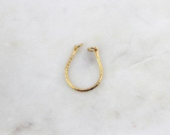Vermeil Hammered Horseshoe U-shaped Connector Charm // BBB Supplies Luxe {LC-hamhorseshoe-VL}