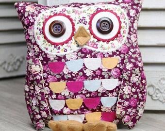 Henrietta Owl Door Stop Cotton Fabric Little Owl /Home Decoration