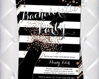 Champagne Sparkle Bachelorette Party PRINTABLE invitation