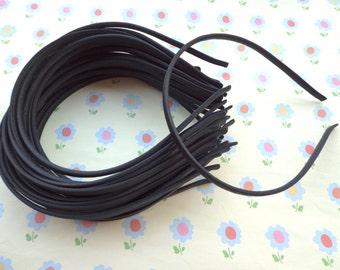 SALE--20 pcs Black Cloth Covered Headband 5mm Wide