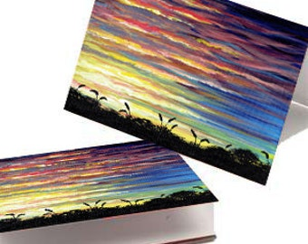 Sunset Greeting Cards - (5) 3.5 x 5
