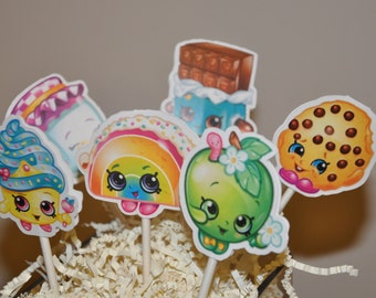 Shopkins Cupcake Toppers Set of 12