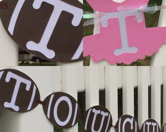 touchdown or tutu,boy or girl reveal,touchdown or tutu banner, gender reveal banner, BabyShower, Gender Reveal Party, Boy or Girl Reveal