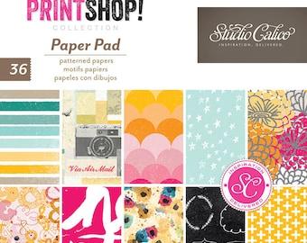 """American Crafts Studio Calico Printshop! 6"""" X 6"""" Paper Pad"""