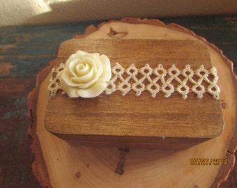 Ring Bearer pillow alternative wood ring box rustic ring box