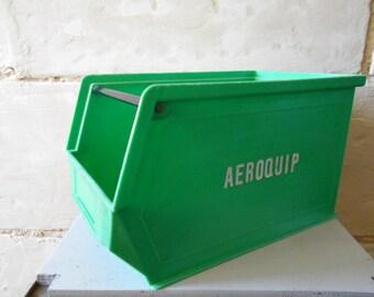 West German AEROQUIP tool box, industrial locker, vintage basket, storage rack, cabinet. 1980s