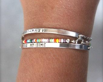Personalised, sterling silver bracelet. ID bracelet.Sterling silver, custom made jewellery.