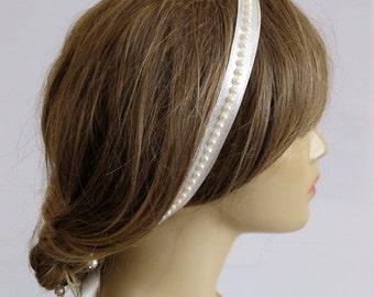 Wedding headband, Bridal, hairband, Hair Accessory, pearl bead, weddings, ivory, bride, headpiece, gift ideas, for women, fashion, handmade