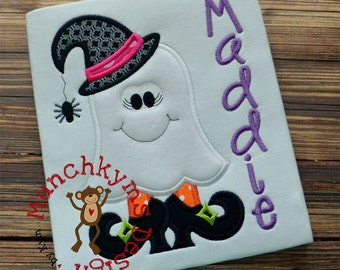 Ghost Witch Applique