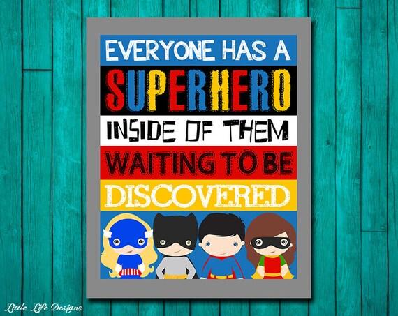 Super Heroes Decor For Classroom ~ Superhero wall art room decor classroom
