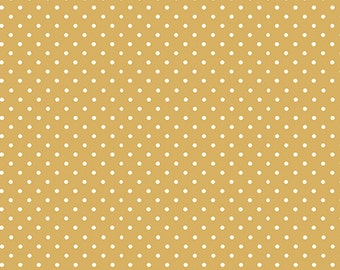 Half Yard - 1/2 Yard - Spot on in Yellow - SOPHIA by Makower UK for Andover