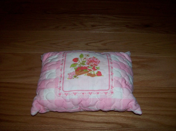Strawberry Shortcake Vintage Pillow Doll Bed Child's Room
