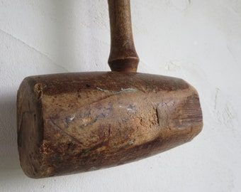 Antique wooden mallet, Wood hammer, Hammer, Hand made tool, Tool, Rustic decor, Antique Collectible, Home decor, Gifts