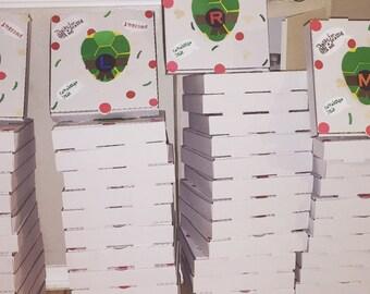 Personalized Ninja turtle  pizza box